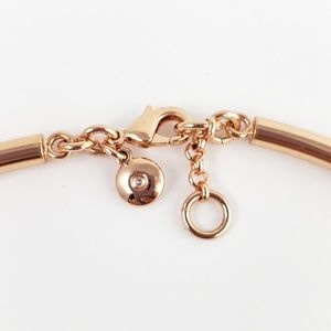 J. Crew Jewelry - J. Crew Necklace Curved Bar Rose Gold Tone